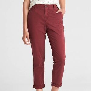 Gap Red Straight Leg Size 10 Pants